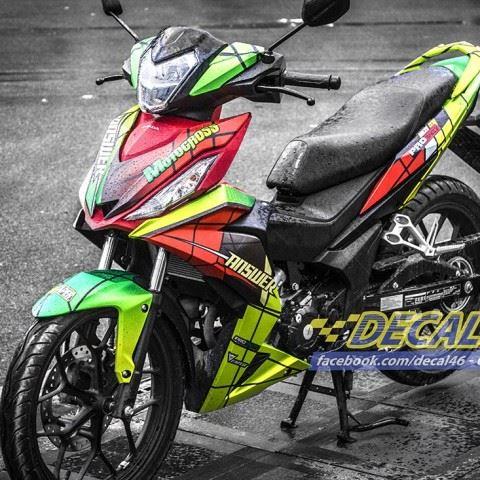 Tem xe Winner 150 - 118 - Tem xe concept Motocross đỏ đen