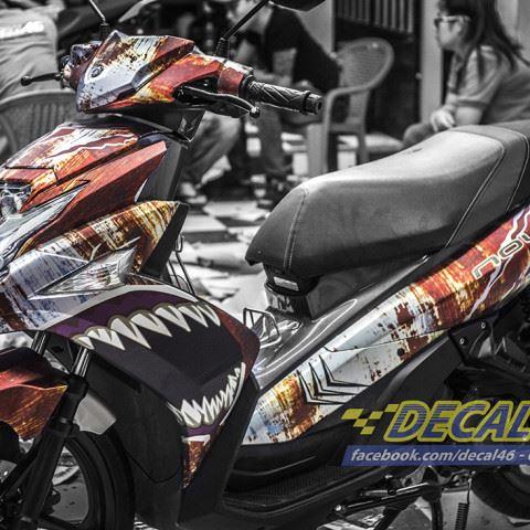 Tem xe Yamaha Nouvo - Tem xe thiết kế Rỉ sét