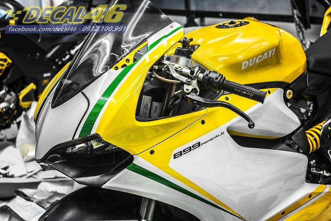 Tem xe PKL - Tem xe Ducati 899 thiết kế Tricolor