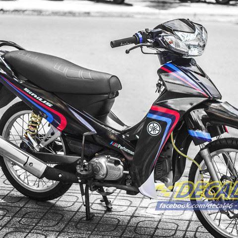 Tem xe Yamaha Sirius - 170 - Tem xe thiết kế BMW đen