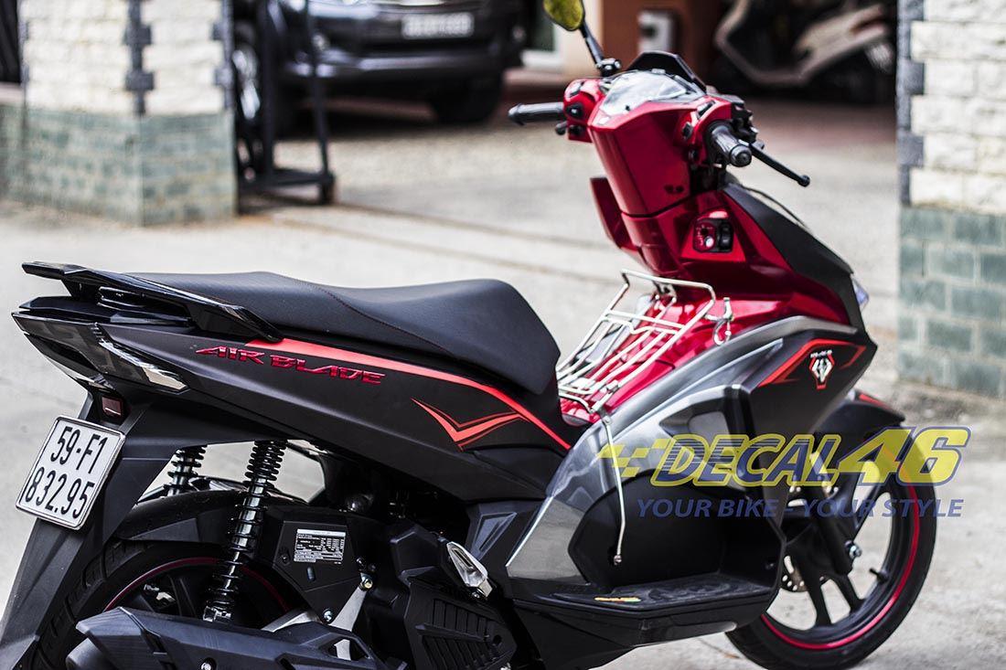 Tem xe Honda Airblade 2016 - 030 - Tem xe thiết kế Matte Black