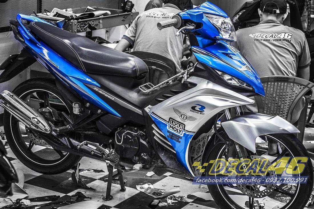 Tem xe Exciter 135 - 169 - Tem xe thiết kế 135 Liqui Moly xanh bạc