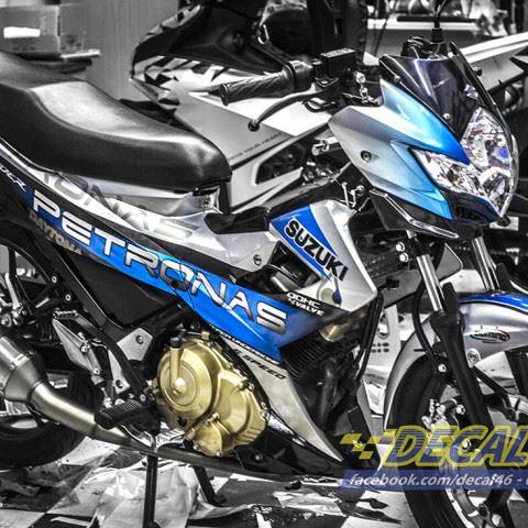 Tem xe Raider 150 - 007 - Tem xe thiết kế Petronas