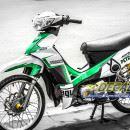 Tem xe Yamaha Sirius – 176 – Tem xe thiết kế Petronas xanh lá