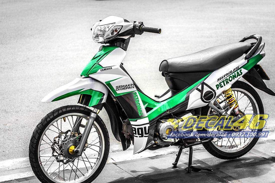 Tem xe Yamaha Sirius - 176 - Tem xe thiết kế Petronas xanh lá