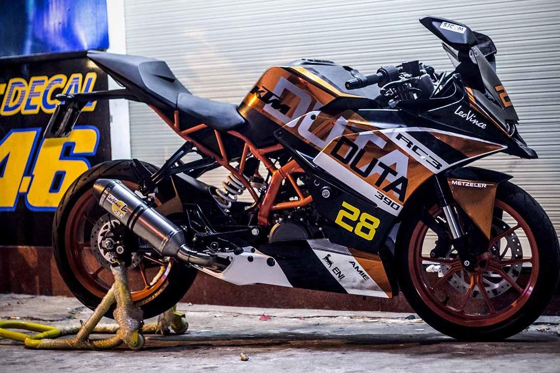Tem xe KTM - DUKE - 14 - Tem xe thiết kế RC Racing
