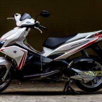 Tem xe Honda Airblade 2016 - 024 - Tem xe thiết kế Crossline trắng ngọc trai