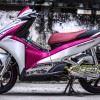 Tem xe Honda Airblade 2016 - 031 - Tem xe thiết kế Nhôm xước hồng