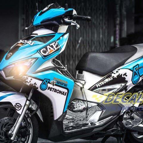 Tem xe Honda Airblade 2016 - 035 - Tem xe thiết kế Petronas