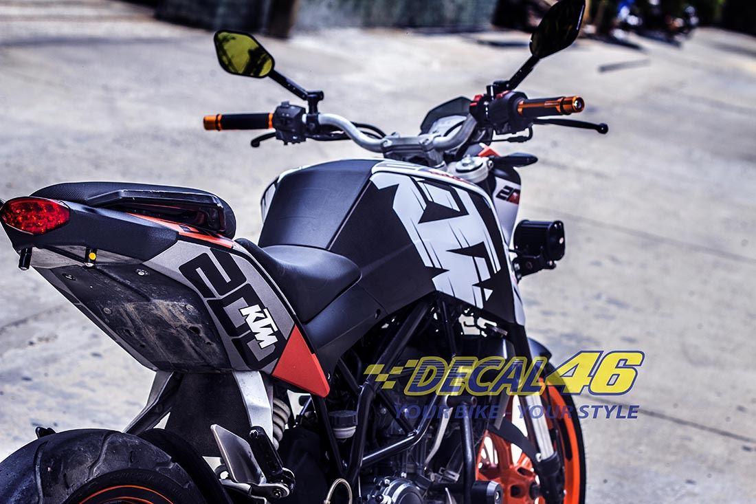 Tem xe KTM - DUKE - 7 - Tem xe thiết kế KTM Racing