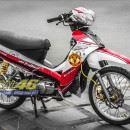 Tem xe Yamaha Sirius – 174 – Tem xe thiết kế MU đỏ trắng