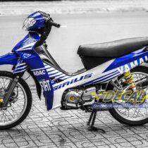 Tem xe Yamaha Sirius - 172 - Tem xe thiết kế Fiat xanh trắng
