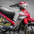 Tem xe Yamaha Sirius – 179 – Tem xe thiết kế Racing boy đỏ