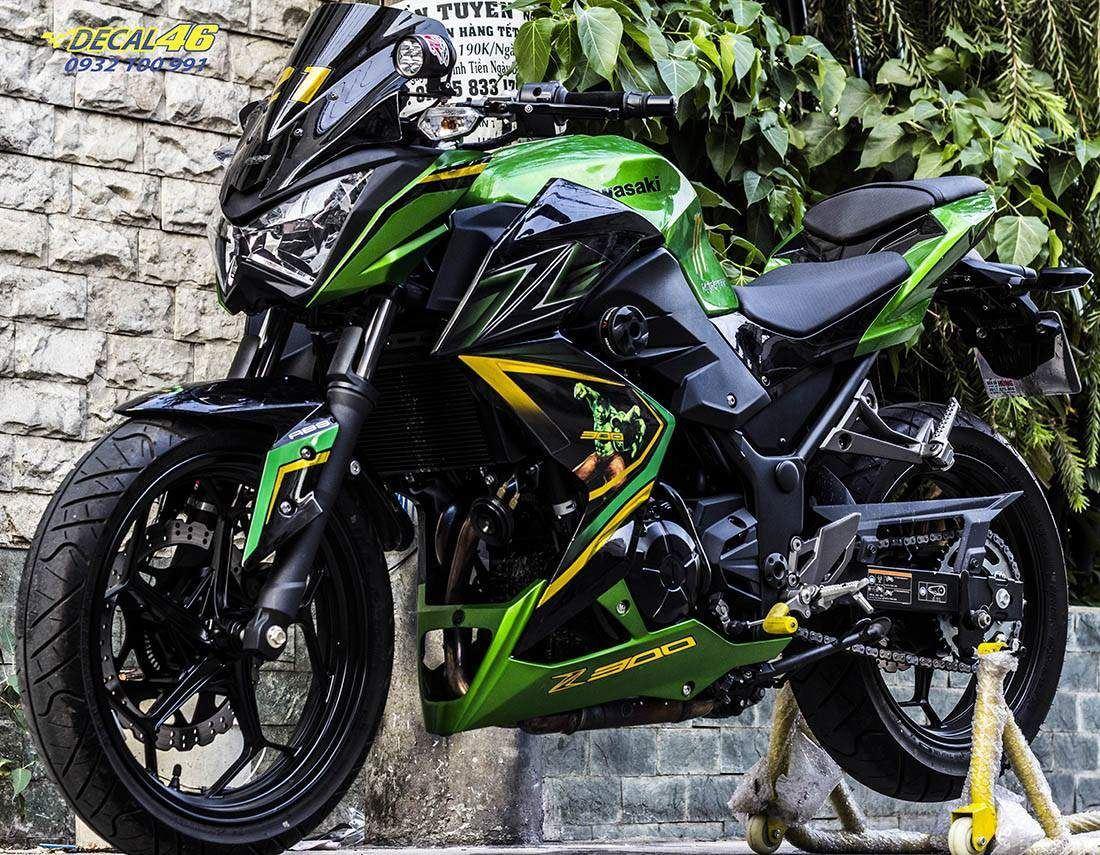 Tem xe PKL - Tem xe Z300 thiết kế Green Monster