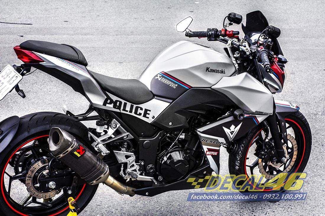 Tem xe PKL - Tem xe Z300 thiết kế Police