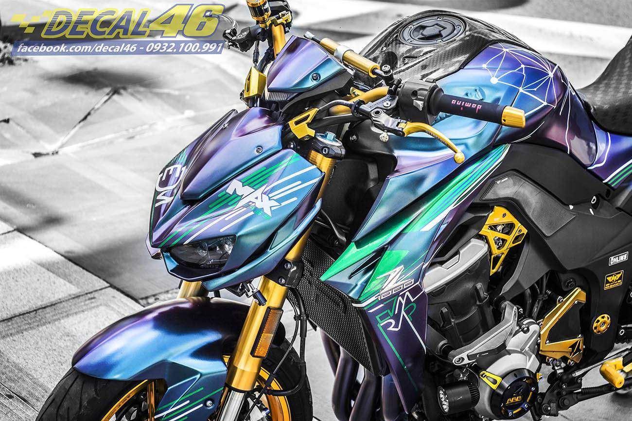 Tem xe PKL - Tem xe Z1000 thiết kế EDM Titan