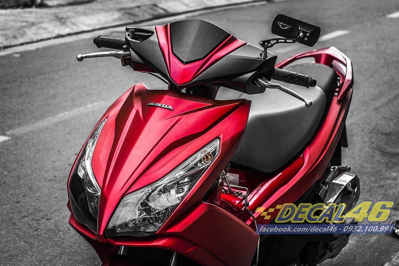 Tem xe Honda Airblade 125 - 033 - Tem xe thiết kế Đỏ xước