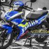 Tem xe Exciter 150 – 256 – Tem xe thiết kế Yamaha GP xanh bạc
