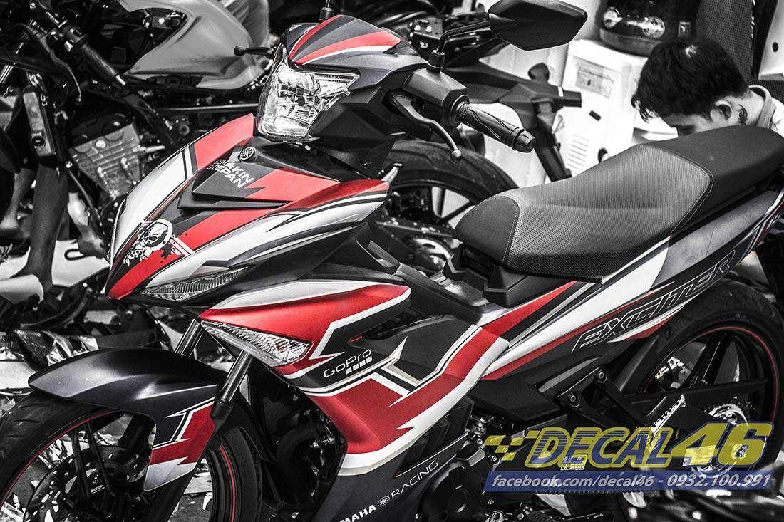 Tem xe Exciter 150 – 242 – Tem xe thiết kế Go Pro đỏ đen