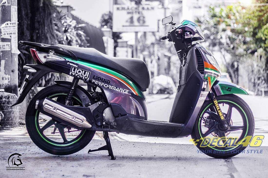 Tem xe Honda SH 150 Italia - Tem xe thiết kế Candy Custom
