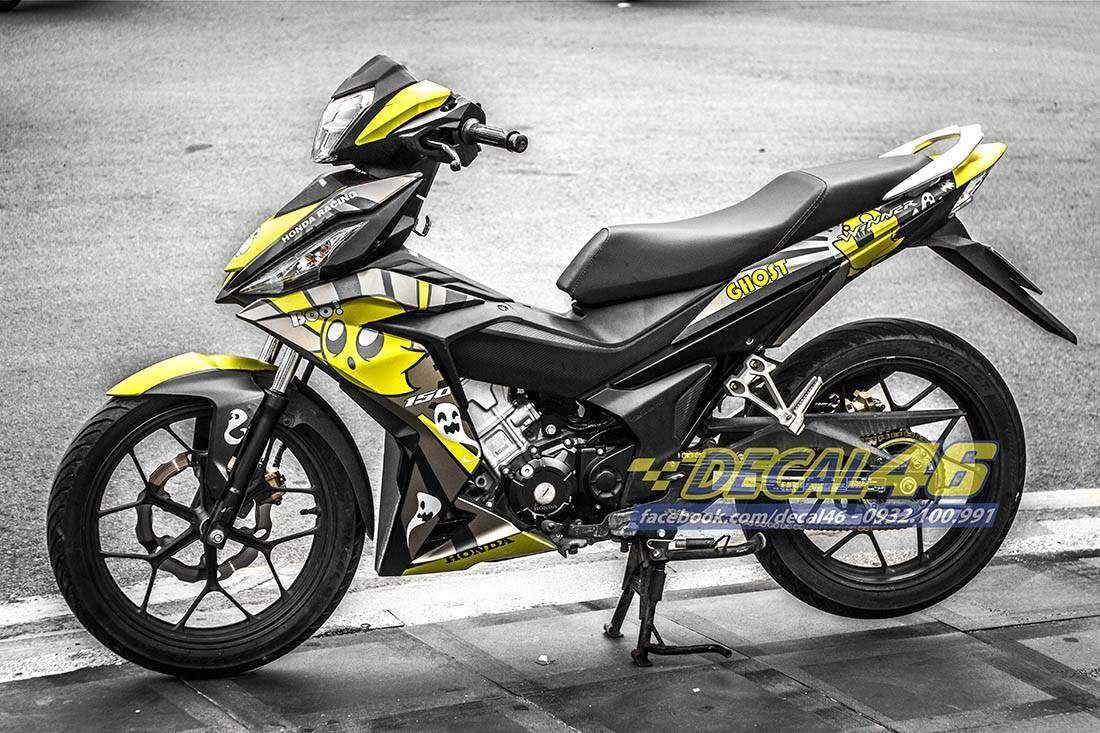 Tem xe Winner 150 - 146 - Tem xe thiết kế Ghost vàng đen