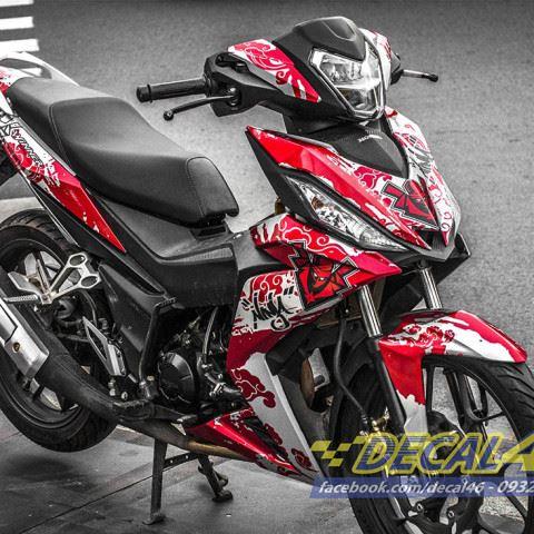 Tem xe Winner 150 - 148 - Tem xe thiết kế Ninja Đỏ đen