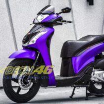 Tem xe Honda SH 150 Italia - Tem xe thiết kế Nhôm xước tím
