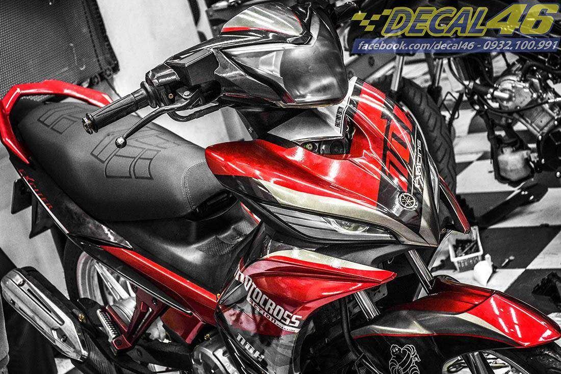 Tem xe Exciter 135 - 171 - Tem xe thiết kế Motocross đỏ đen