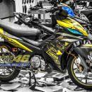 Tem xe Exciter 135 – 172 – Tem xe thiết kế Yamaha nhôm Vàng đen