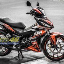Tem xe Winner 150 - 156 - Tem xe thiết kế KTM 2 cam đen