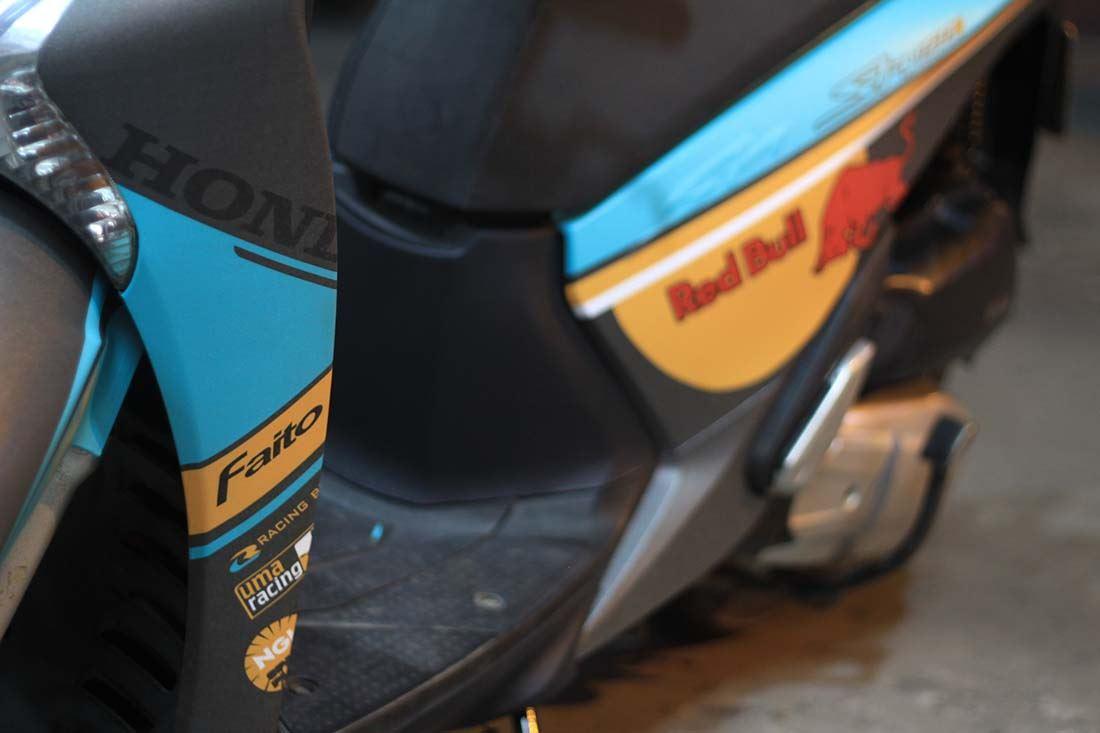 Tem xe Honda SH 150 Italia - Tem xe thiết kế Red Bull