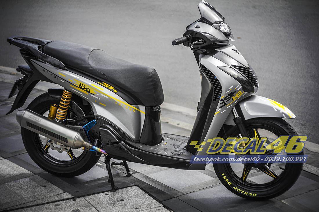 Tem xe Honda SH 150 Italia - Tem xe thiết kế Domino SG - HN
