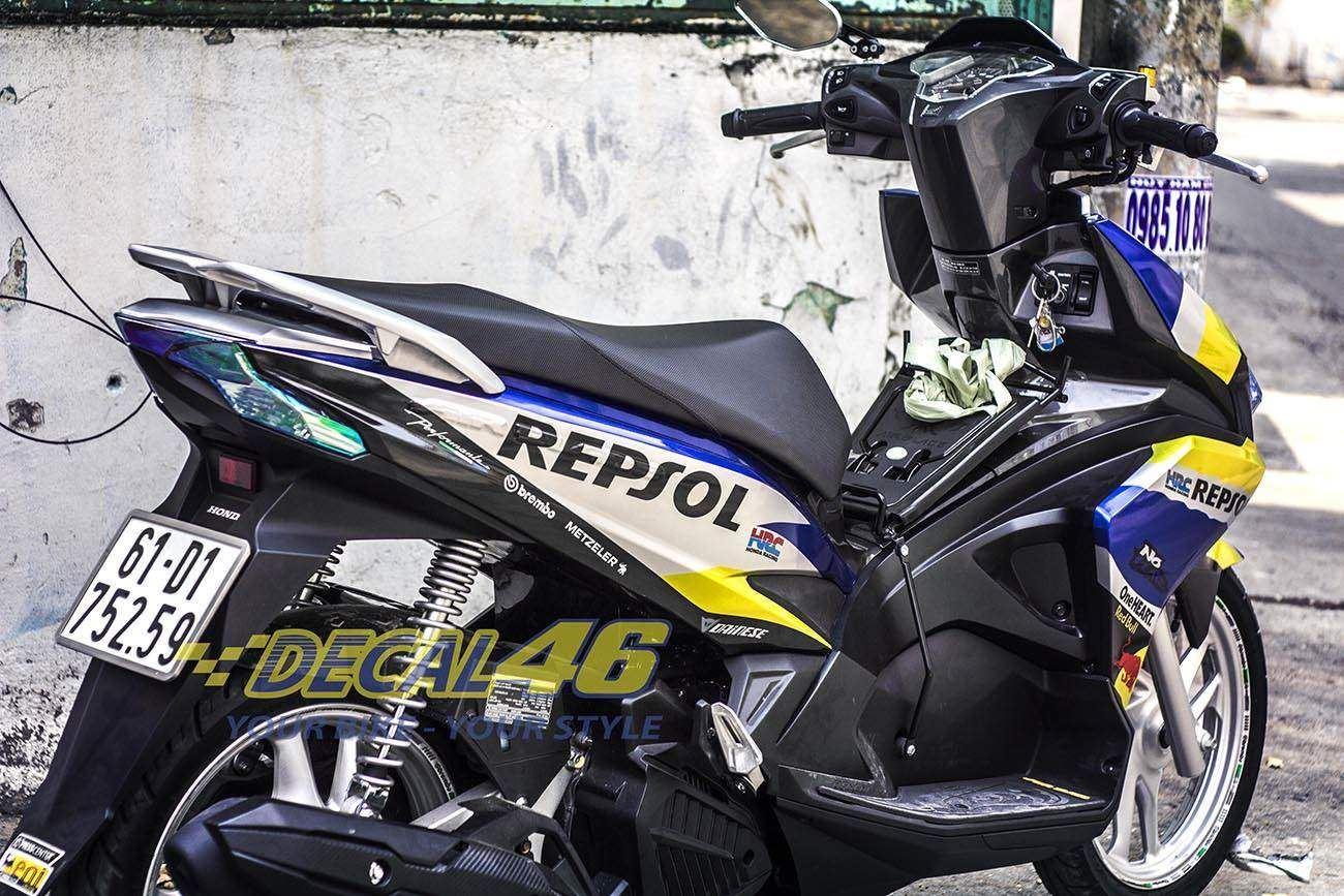 Tem xe Honda Airblade 2016 - 039 - Tem xe thiết kế Repsol
