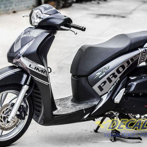 Tem xe Honda SH 150 Italia - Tem xe thiết kế Nhôm Project