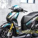 Tem xe Honda SH 150 Italia – Tem xe thiết kế Ohlin xanh đen
