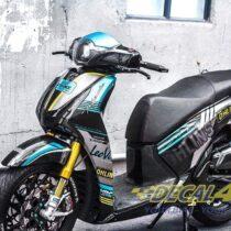 Tem xe Honda SH 150 Italia - Tem xe thiết kế Ohlin xanh đen