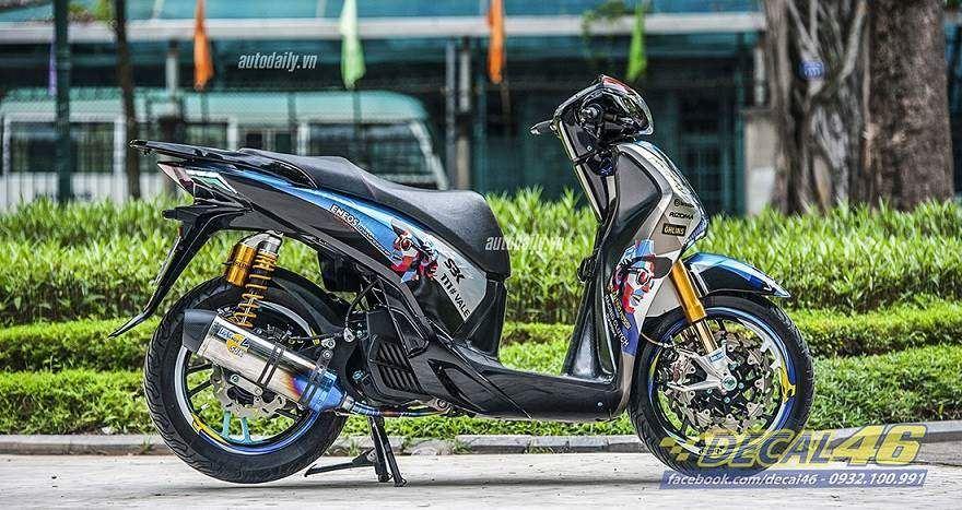 Tem xe Honda SH 150 Italia - Tem xe thiết kế Rossi