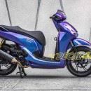 Tem xe Honda SH 150 Italia – Tem xe thiết kế Titanium Chuyển sắc