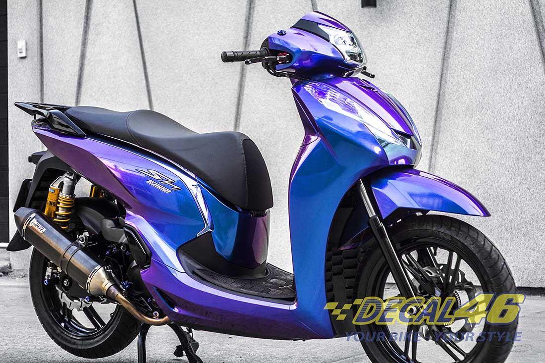 Tem xe Honda SH 150 Italia - Tem xe thiết kế Titanium Chuyển sắc