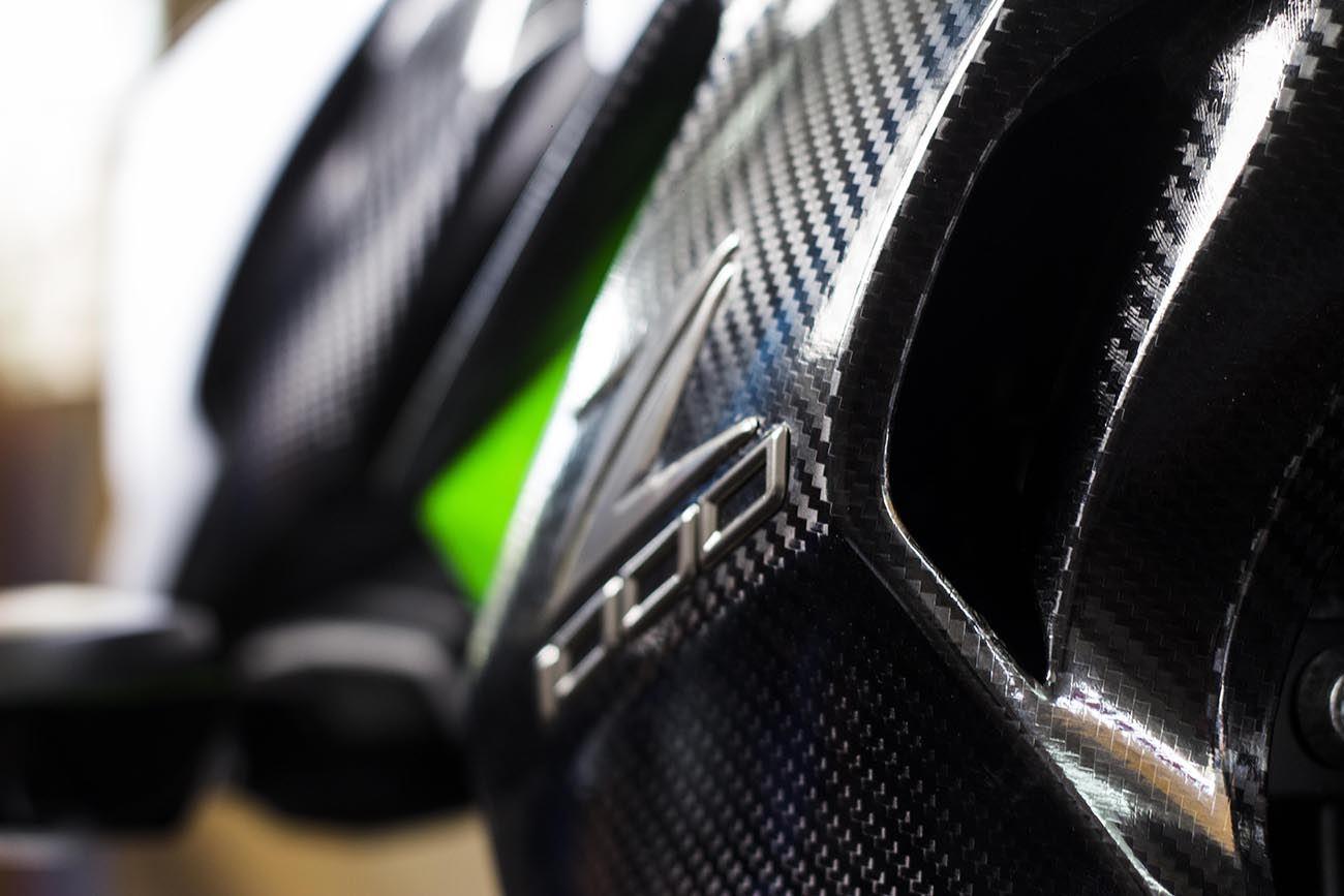 Tem xe PKL - Tem xe Z1000 thiết kế Nhôm xước và Carbon 5D