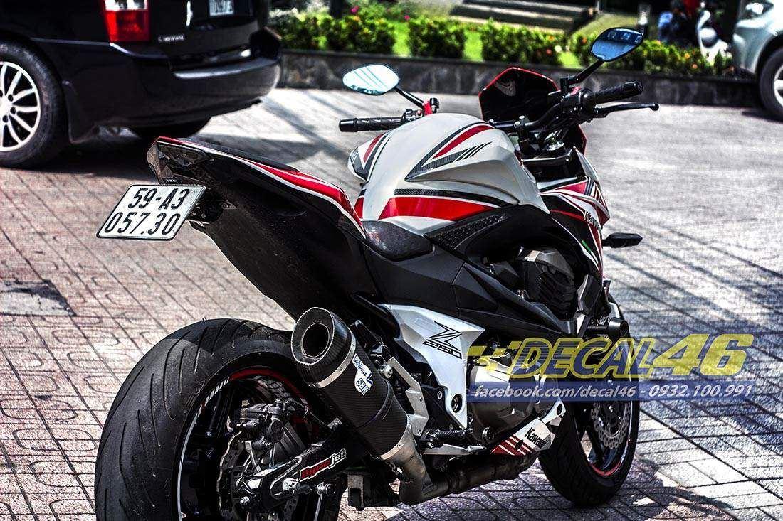 Tem xe PKL - Tem xe Z800 thiết kế Bigbike Style Ngọc trai