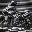 Tem xe Exciter 150 – 288 – Tem xe thiết kế Yamaha nhôm xanh đen