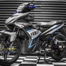 Tem xe Exciter 150 – 288 – Tem xe thiết kế Yamaha xanh đen