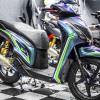 Tem xe Honda SH 150 Italia - Tem xe thiết kế Titan xanh mino