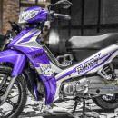 Tem xe Yamaha Sirius – 195 – Tem xe thiết kế Ryno tím