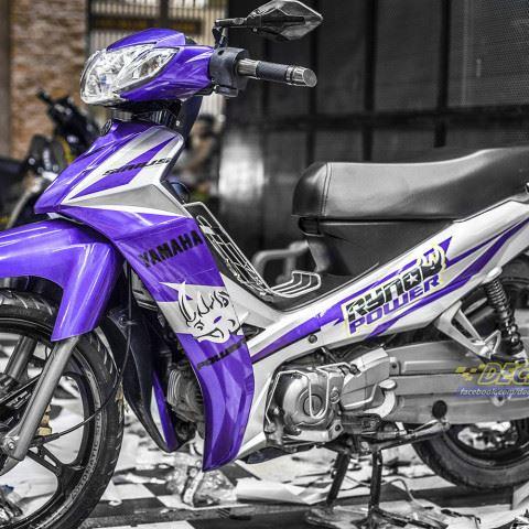 Tem xe Yamaha Sirius - 195 - Tem xe thiết kế Ryno tím