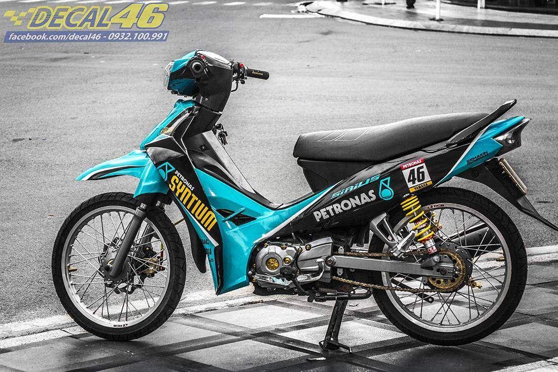 Tem xe Yamaha Sirius - 191 - Tem xe thiết kế Syntyum xanh