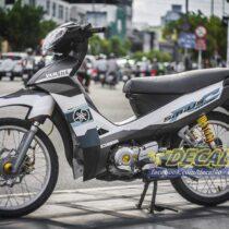 Tem xe Yamaha Sirius - 190 - Tem xe thiết kế Yamaha RC trắng đen
