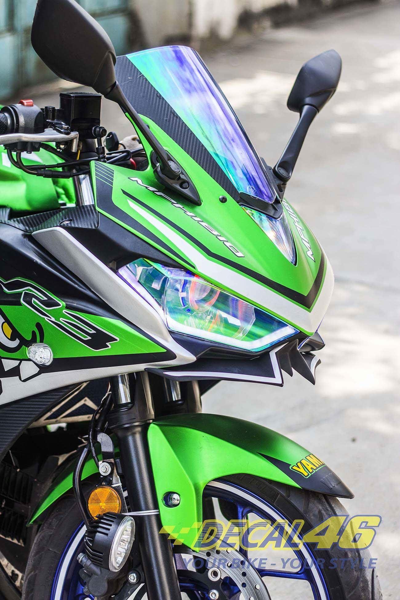 Tem xe PKL - Tem xe R3 thiết kế Green Shark