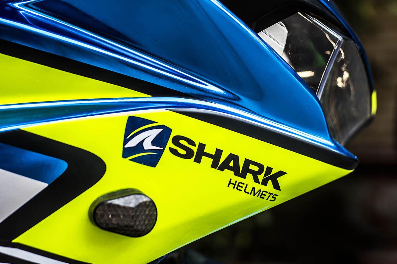 Tem xe PKL - Tem xe R3 thiết kế Mino Shark